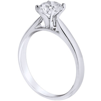 "Ben Garelick Royal Celebrations ""Purity"" Four Prong Diamond Solitaire Engagement Ring"