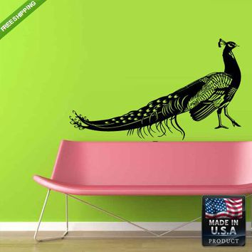 Wall Decals Art Decor Decal Sticker Cute Peacock Animals Bedroom  z203