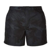 Black Camo Print Swim Shorts by Valentino