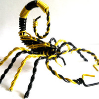 Scorpion Wire Sculpture Aluminium Metal 6 Inch -Choose Colours-