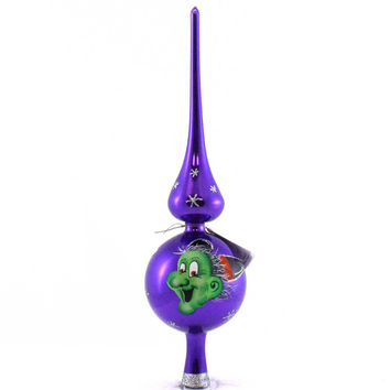 Laved Italian Ornaments Halloween Purple Witch Finial Tree Topper / Finial