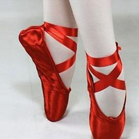Adult Dance Shoes Ballet shoes Pointe shoe Toe Shoes Satin Women shoes