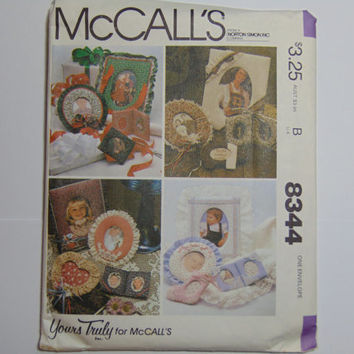 McCall's Pattern 8344 Set of Picture Frames 1982