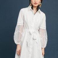 Crocheted Poplin Shirtdress