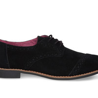 Black Suede Women's Brogues