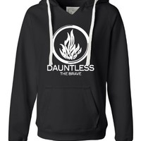 Medium Black Womens Dauntless The Brave Deluxe Soft Hoodie