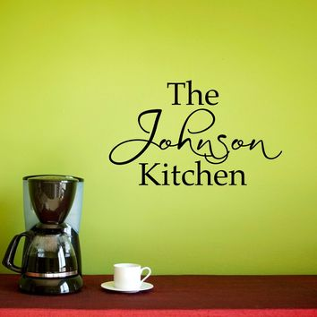 Kitchen Wall Decal - Personalized Name Decal - Kitchen Wall Art - Small