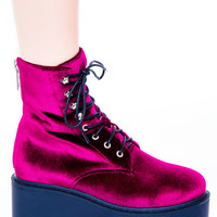 UNIF Craft Boot Red Velvet UNIF