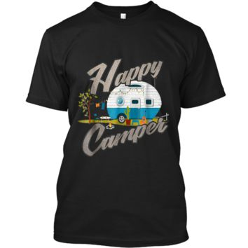 Happy Camper Camping Vintage distressed Tee Custom Ultra Cotton
