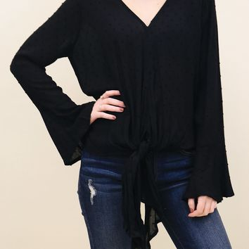 Bow Bell Sleeved Blouse
