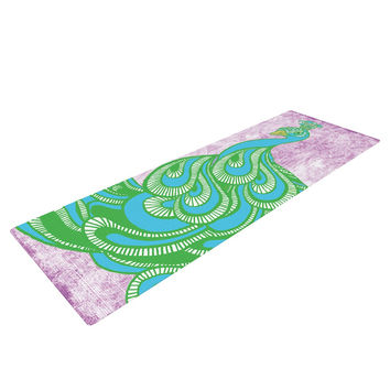 "Geordanna Cordero-Fields ""Beauty in Waiting"" Green Pink Yoga Mat"