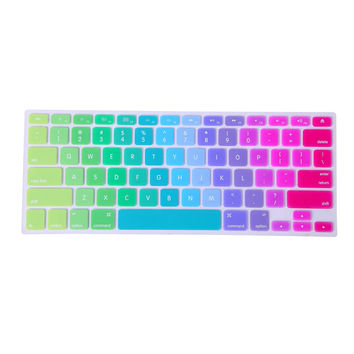 Rainbow Pride Color Silicone Rubber Keyboard Skin Cover for Macbook Pro