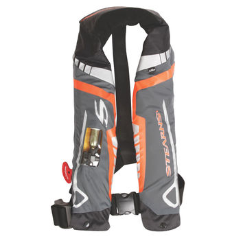 Stearns C-Tek 33G A/M Inflatable Life Vest - Orange/Gray