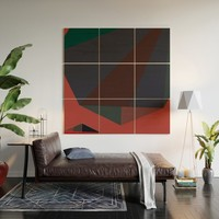 Shape Play 2 Wood Wall Art by duckyb