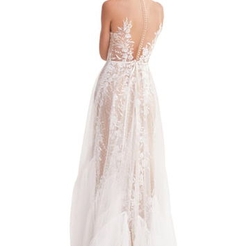 Willowby Capricorn Illusion Strapless A-Line Wedding Dress | Nordstrom