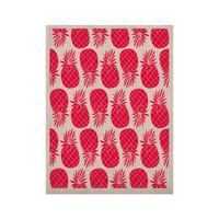 """Anchobee """"Pinya Neon Pink"""" Magenta Pattern KESS Naturals Canvas (Frame not Included)"""