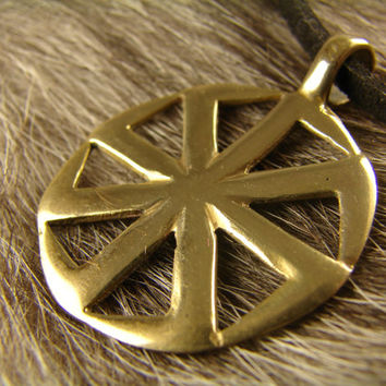 Kolovrat Symbol, Slavic Pendant,  Pagan Jewelry, Norse jewelry, Gift for him, Gift for her