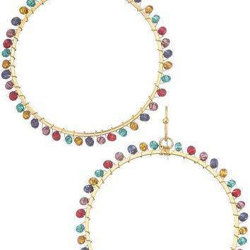 Colored Drop Hoops