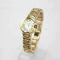 Thank you Gift Card Woman Stainless Steel Thin Band Dress Night Out Party Fashion Wristwatch Dress Birthday  Gold Watch