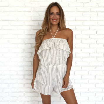 Lounge By The Pool Halter Romper