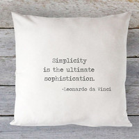 Simplicity Pillow Cover - Quote Pillow, Industrial Chic, Farmhouse Decor, Simple Life Pillow, Farmhouse Pillow, 16 x 16, 18 x 18