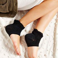 Ruffle Open-Toe Yoga Anklet Sock-