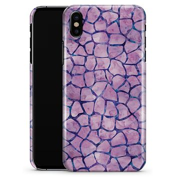 Purple Watercolor Giraffe Pattern - iPhone X Clipit Case