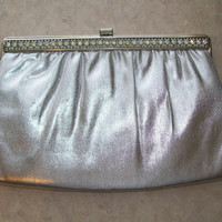 Vintage Clutch with Rhinestones by Harry Levine, Formal Evening Clutch, Holiday Glam Bag