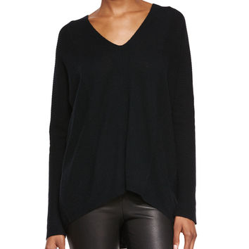 Directional Rib Cashmere Sweater, Size: