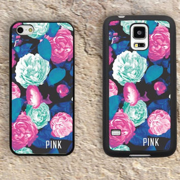 Victoria secret pink Flower iPhone Case-Patterns Floral iPhone 5/5S Case,iPhone 4/4S Case,iPhone 5c Cases,Iphone 6 case,iPhone 6 plus cases,Samsung Galaxy S3/S4/S5-292