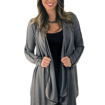 All I Need Cardigan- Gray | MACA Boutique
