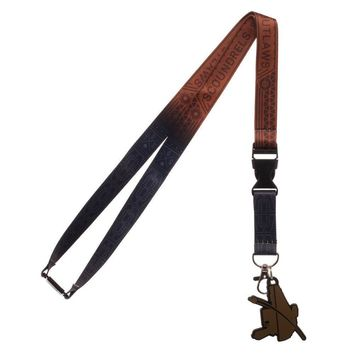 Disney Scoundrels and Outlaws Dual Lanyard, Star Wars Character Styled Key Holder with Rubber Pistol Charm