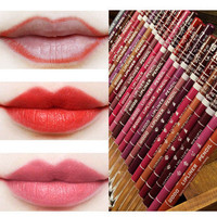 12pcs lot 15CM 12Colors Set Waterproof Lip Liner Pencil Women's Professional Long Lasting Lipliner Lips Makeup Tools