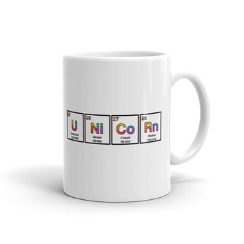 Unicorn Elements Coffee Mug Funny Mugs Science Gift