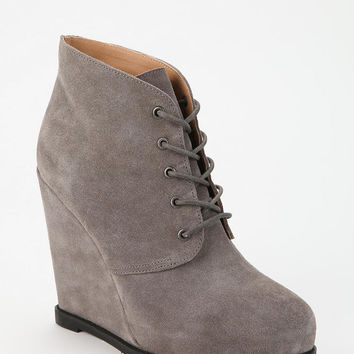 Kimchi Blue Suede Lace-Up Ankle Boot