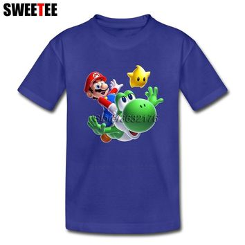 Super Mario party nes switch children's Toddler Pure Cotton  Yoshi Luma Boy Girl 2018 T-shirt O Neck Kid Garment T Shirt Infant Tshirt AT_80_8