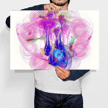 Spiral Art Nebula Print Pink Wall Art Abstract Poster Energy Art Cosmos Art Printable Art Kids Room Decor Kids Art Display