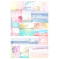 Surf Girl Collage Wall Mural