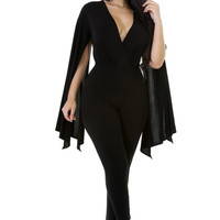 Cape Long Sleeve Jumpsuit. SZ Large 3XL