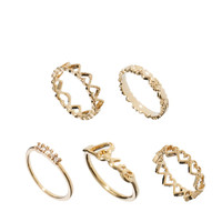 ASOS | Limited Edition Love Ring Pack at ASOS