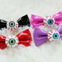 Eyeball Bow Hair Clips (2 pcs.)