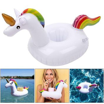 Inflatable Unicorn Floating Cup Holder Bachelorette Party Supplies Pool Party Decorations Wedding Decoration Mariage Air Balloon