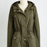 Safari Mid-length Woods You Be Mine? Jacket in Olive