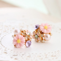 Flower Bouquet Earring Set