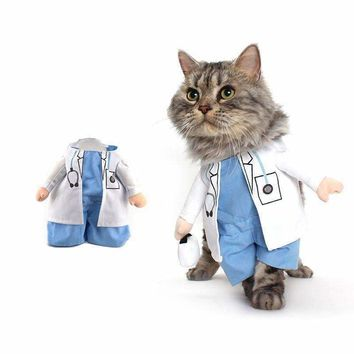Funny Cat Costume Physician Suit Most Dogs Clothes Uniform Clothing for Puppies Yorkieshire Chihuahua Business Outfit 35