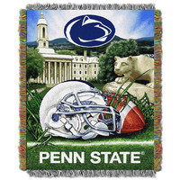 Penn State Lions NCAA Woven Tapestry Throw (Home Field Advantage) (48x60)