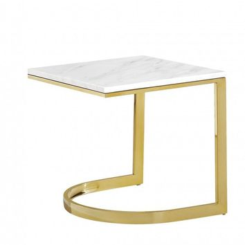 London Gold End Table