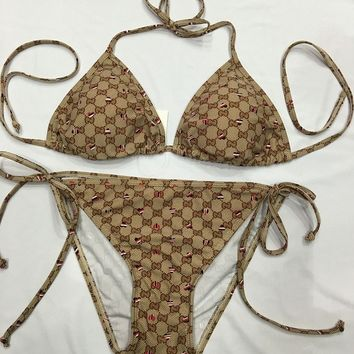 GUCCI   LV  CHANEL Bikini Set Bathing Suits With Halter Strap Swimwear
