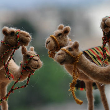 Needle felted-Nativity Set-Nativity-Waldorf- Camel- doll- wool soft sculpture-Made to order