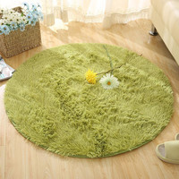 5 Size Plush Shaggy Soft Round Carpet  Non-Slip Water absorption Floor Rug Yoga Mat For Bedroom Parlor Living Room Home Supplies